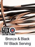bronze and black custom bow string color with black serving