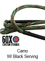 camo custom bow string color with black serving