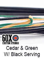 cedar and green custom bow string color with black serving