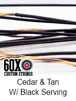 cedar and tan custom bow string color with black serving