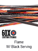 flame custom bow string color with black serving