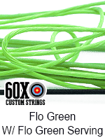 fluorescent green custom bow string color with fluorescent green serving