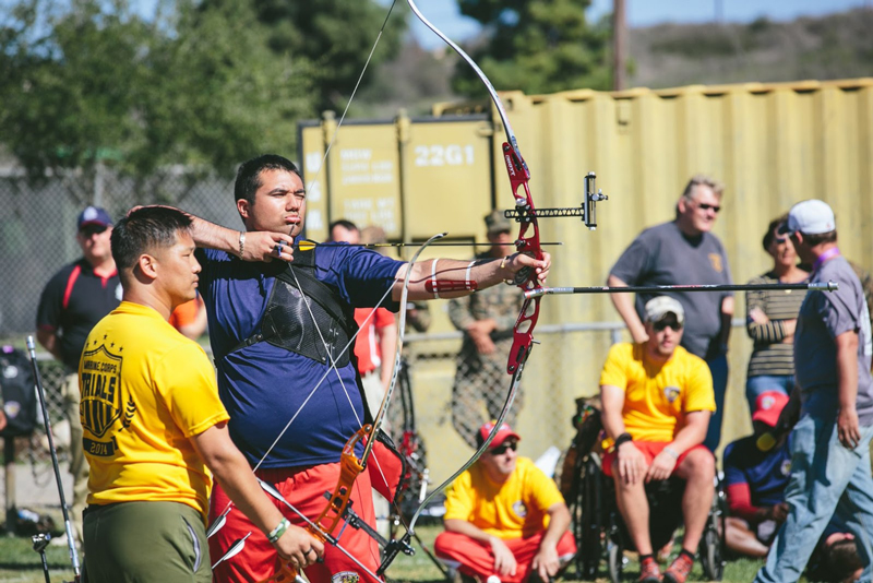 recurve type of bow tournament